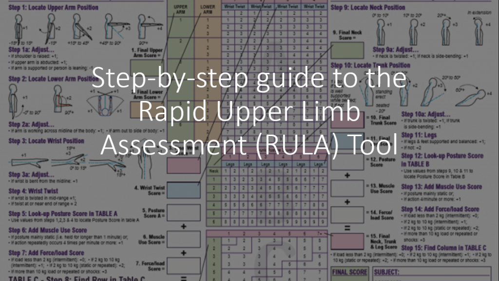 Rapid Upper limb Assessment (RULA) worksheet